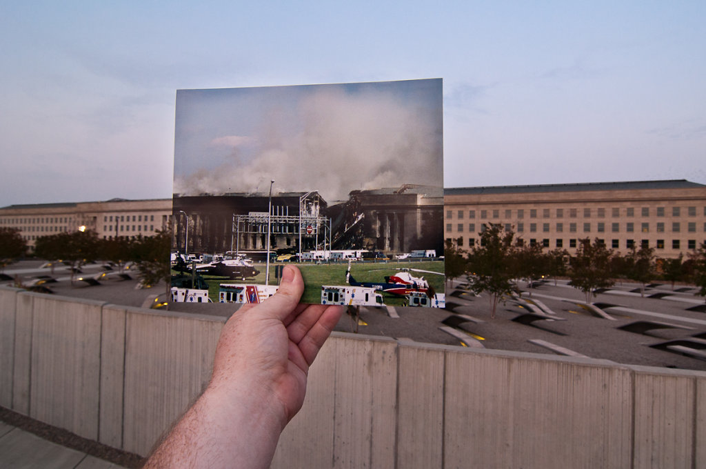 Pentagon From a Distance, September 11, 2001