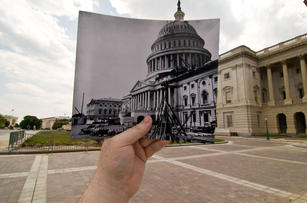 US Capitol Under Construction, Washington, DC